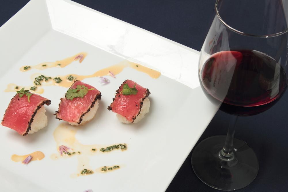 food-tuna-wine