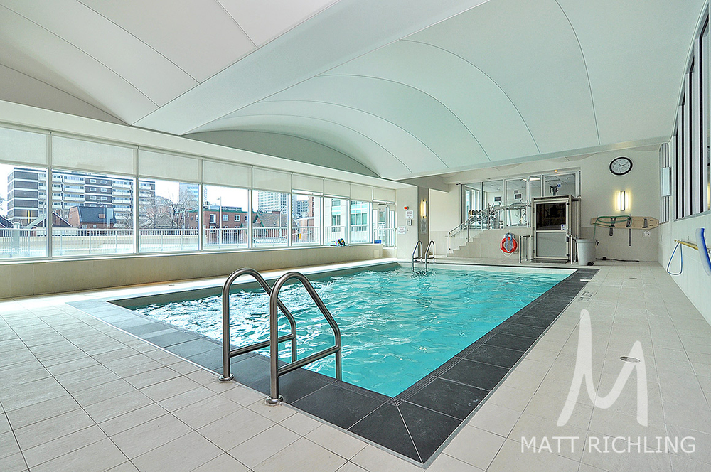 Indoor pool for the owners at 200 Rideau St and 234 Rideau St, built by Claridge