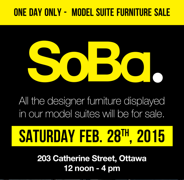 SoBa Furniture Sale Ottawa Condos