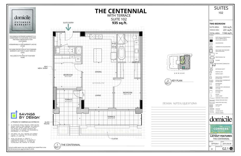 Centennial Floorplan Domicile Corners on Main
