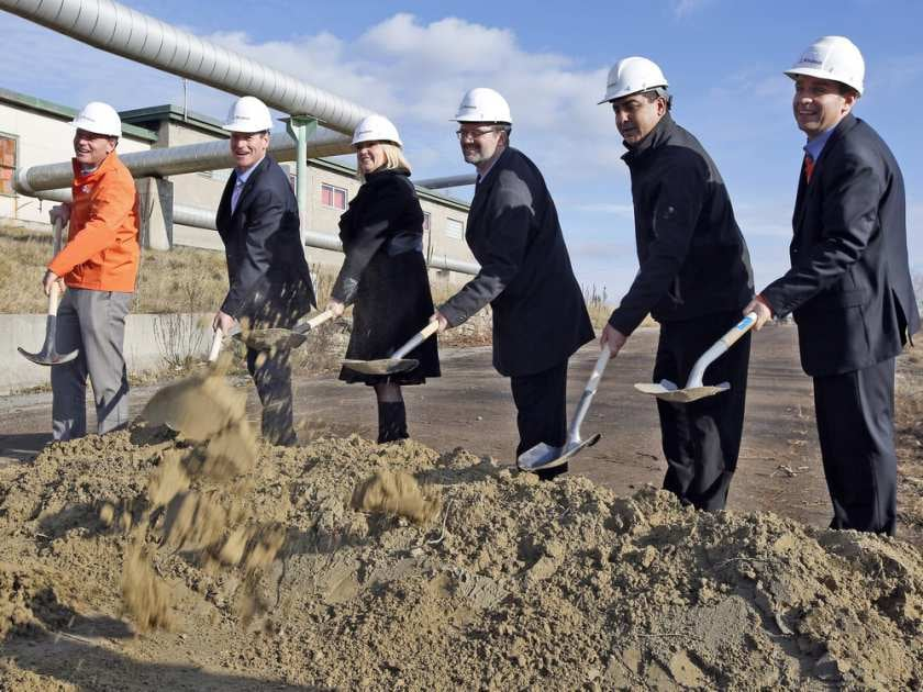Zibi Construction Ground Breaking Ceremony - Darren Brown / The Ottawa Citizen