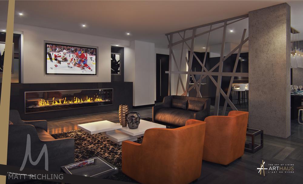 Arthaus Lounge Ottawa Condo Rendering