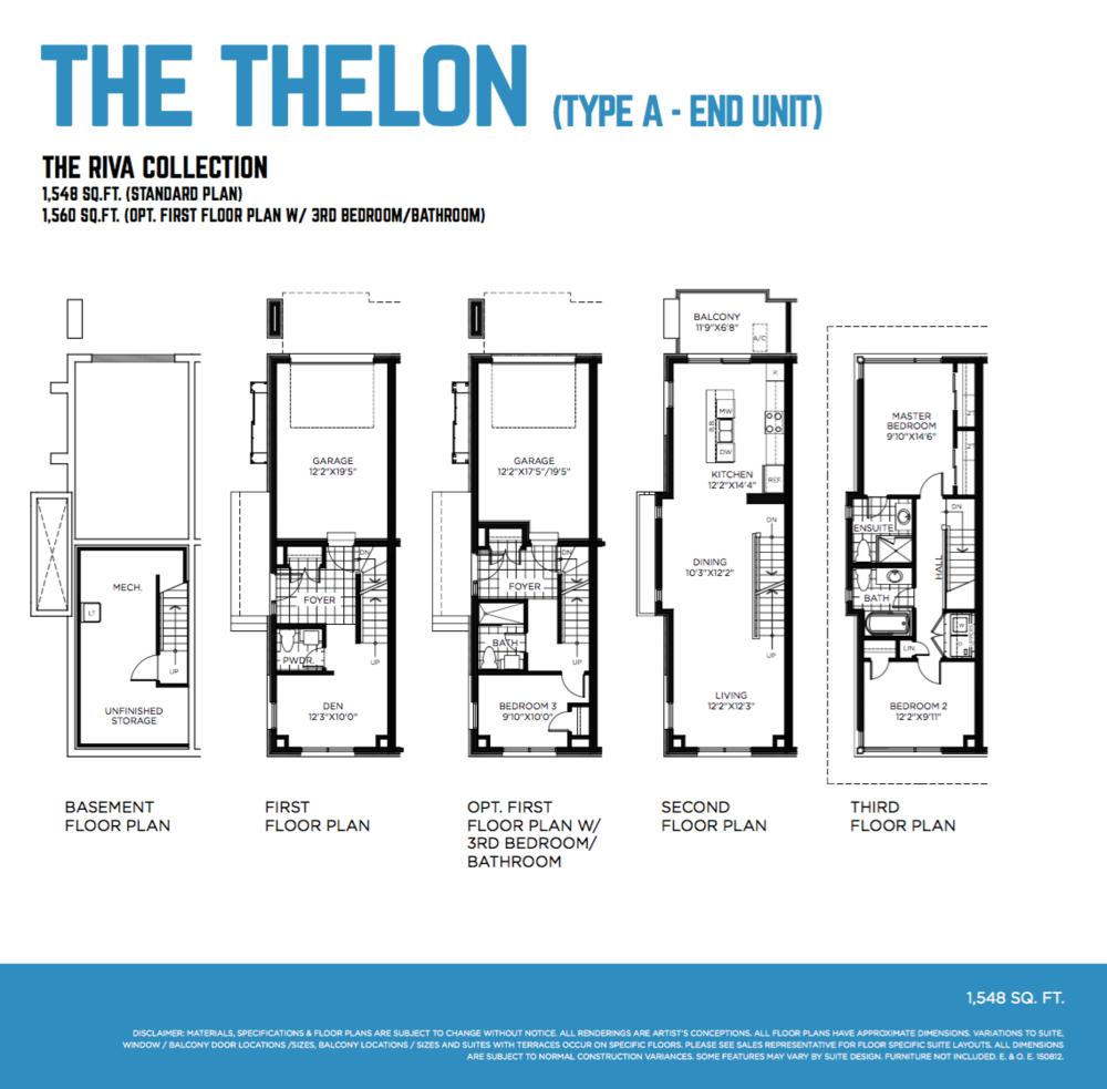 Thelon Floorplan Northshore GreyStone Ottawa