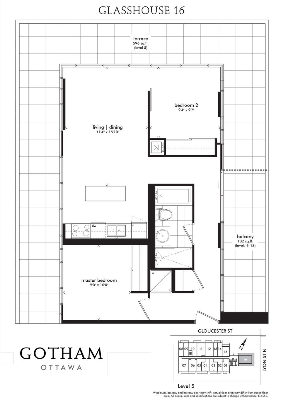 Gotham Condos Ottawa 224 Lyon Glasshouse Floorplan