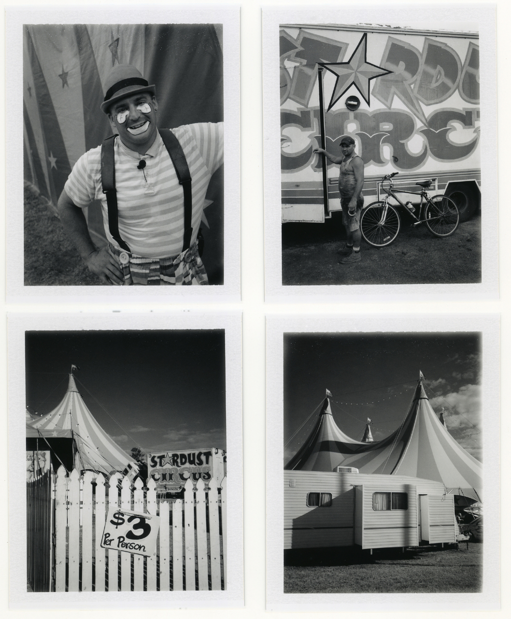 Circus Tents at Townsville on Polaroid