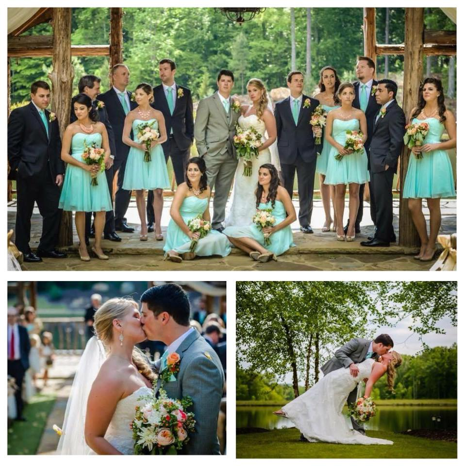 Spring Peach and Teal wedding