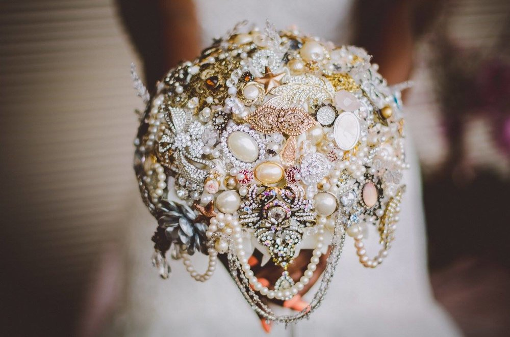 Brooch Bouquets also available for purchase.  Photo by https://www.facebook.com/imkelleyraye/