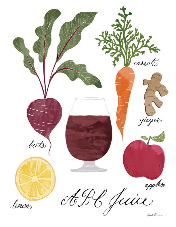 New Juice Recipe Illustrations — Very Sarie