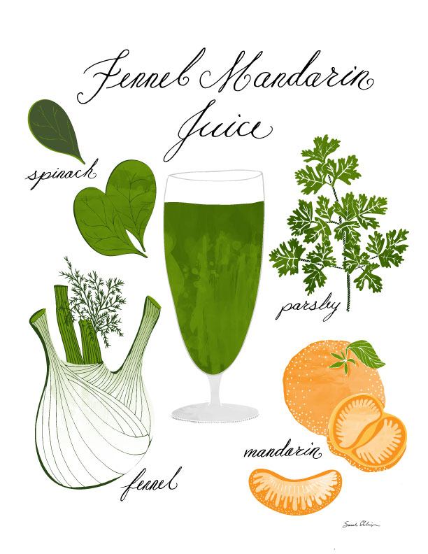 Fennel Mandarin juice