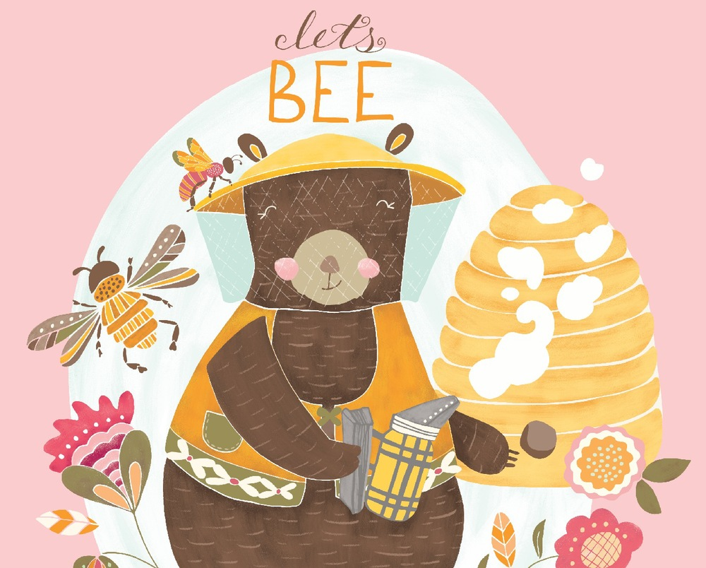 Oh hi little happy bear! Sure, I'll bee your friend!