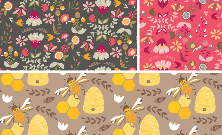 Coordinating patterns: Bee Friends