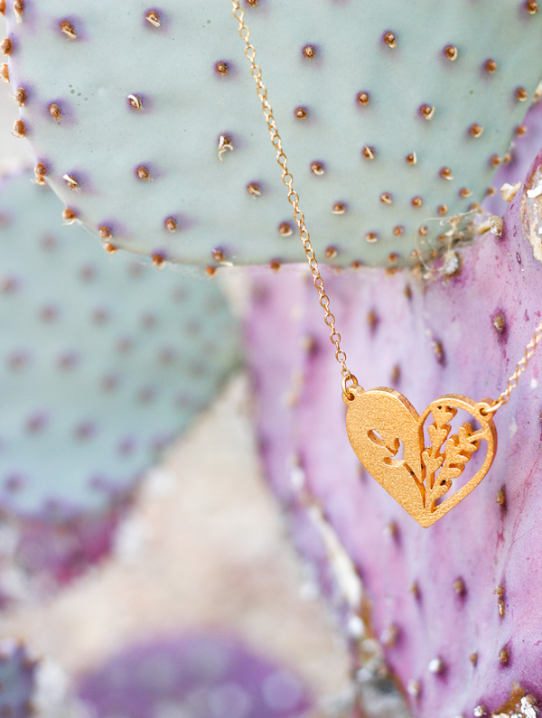 Very Sarie Blossom Heart Necklace
