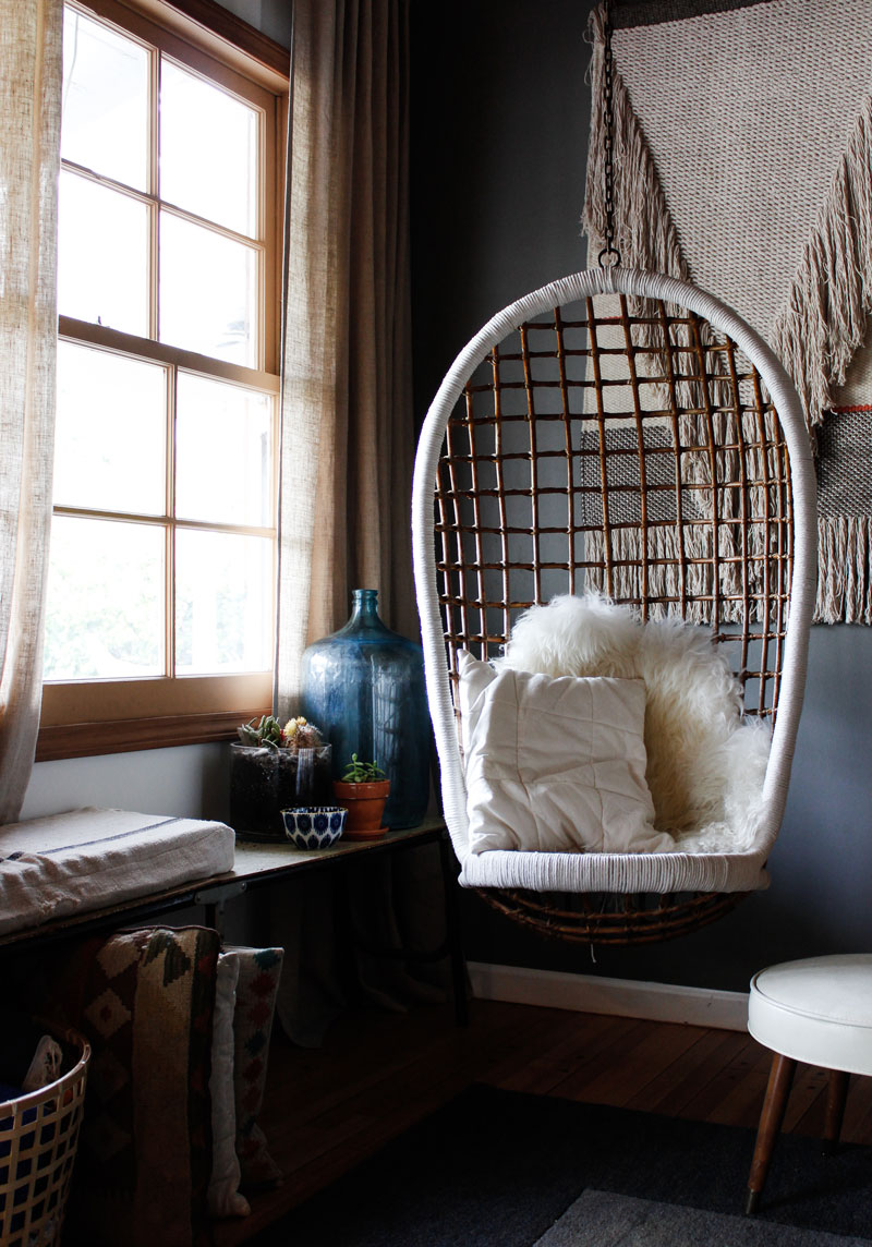 Hanging Rattan Chair Makeover Very Sarie