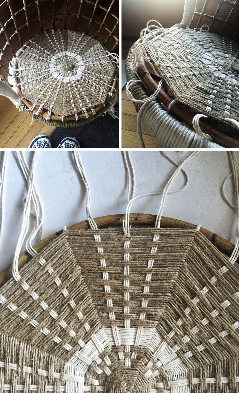 Hanging Rattan Chair Makeover In Process Very Sarie