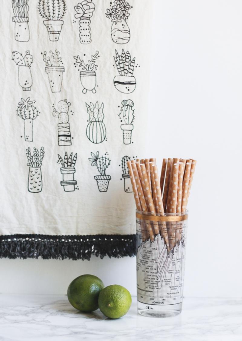 Click to shop succulent pattern tea towel