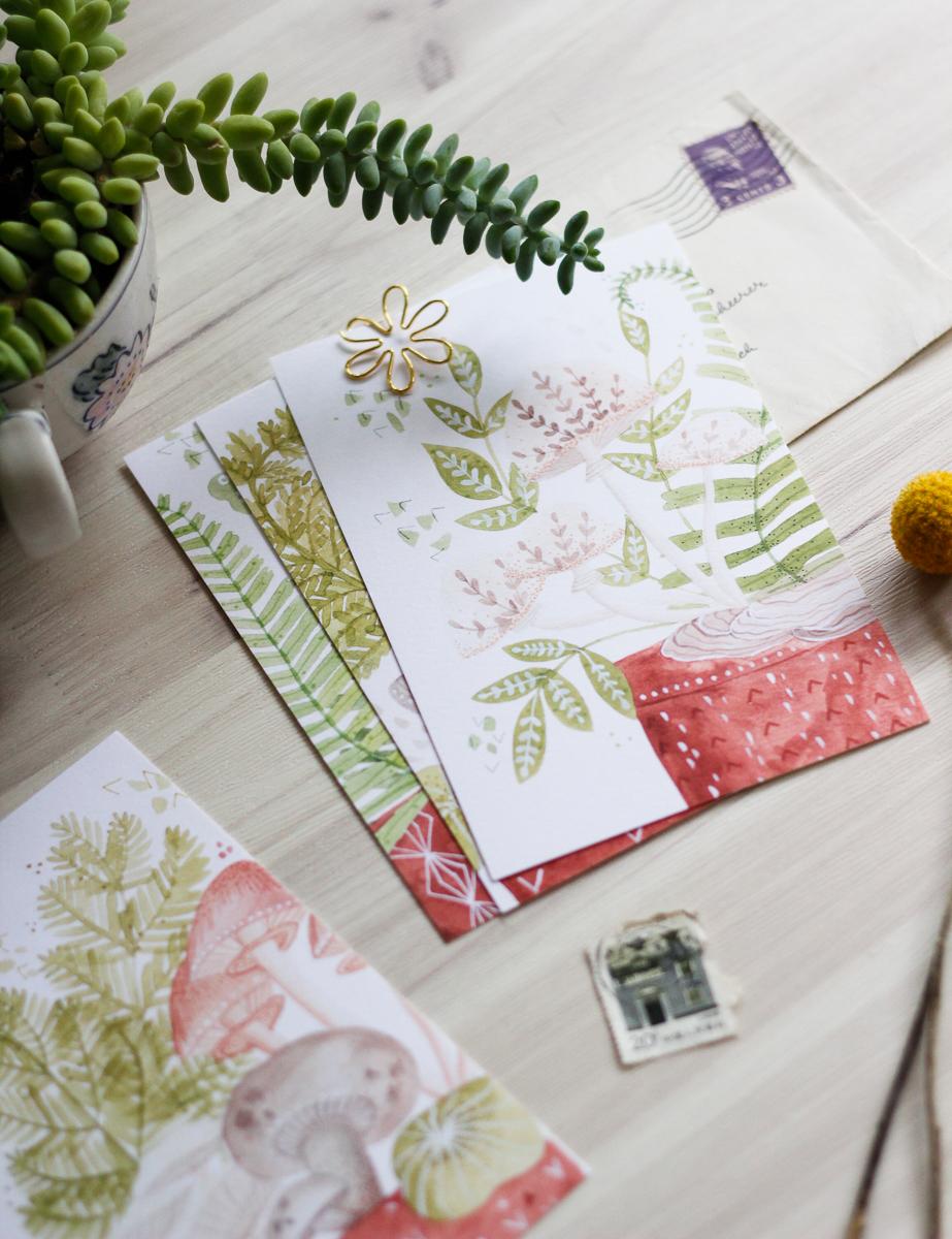 Click to shop botanical postcard set
