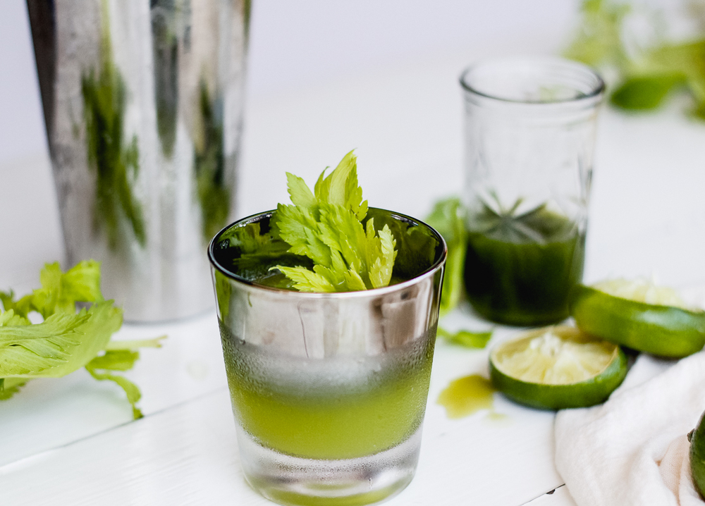 Ginger, Celery & Cilantro Sipper