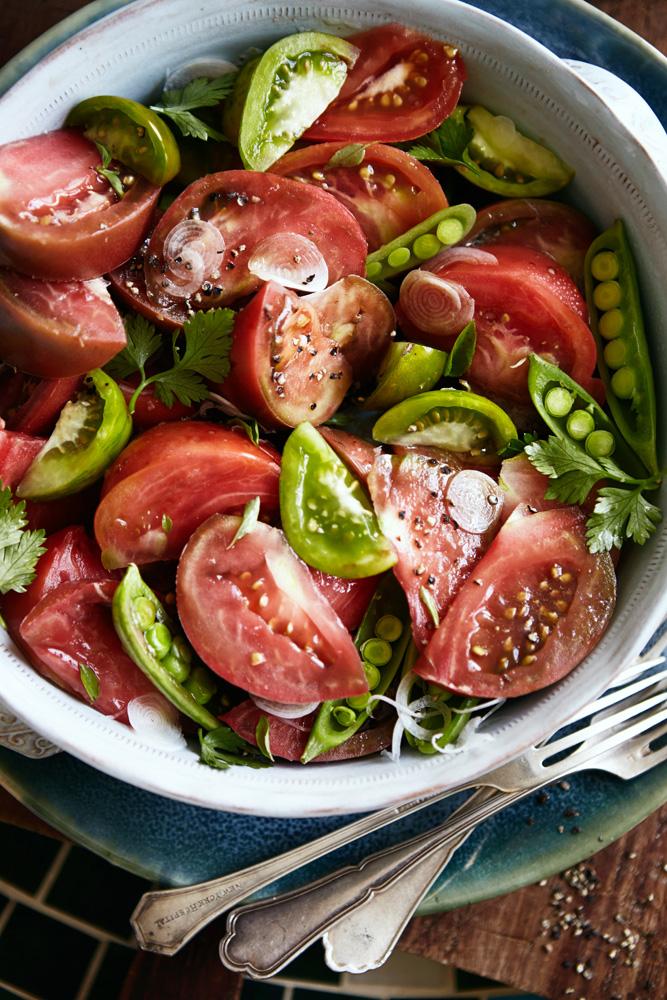 Heirloom Tomato, Sugar Snap Peas and Herb Salad