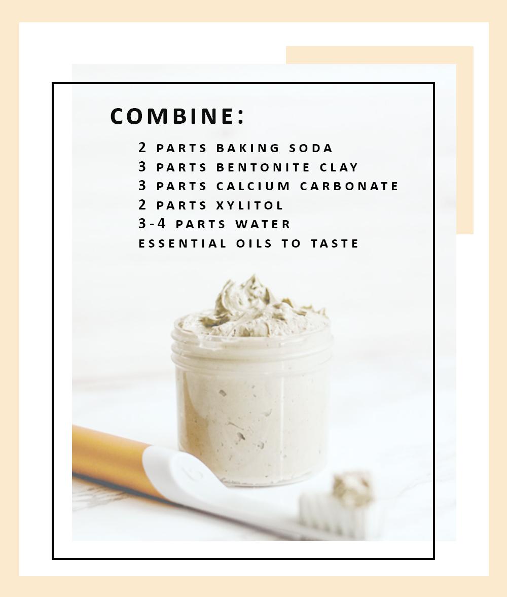 DIY earthpaste toothpaste recipe