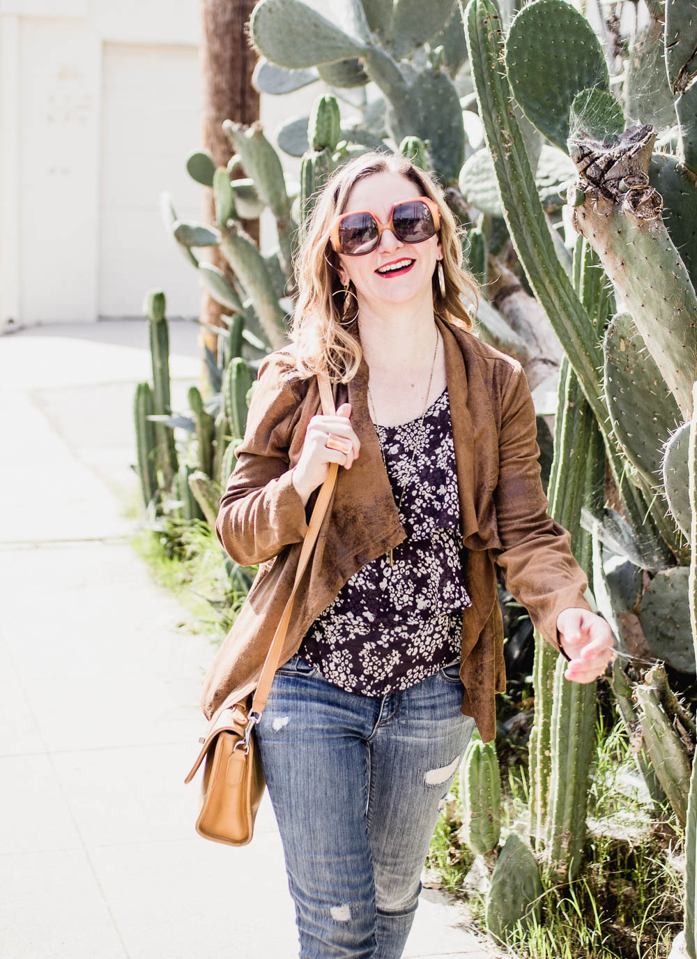 Florals and Suede California Style