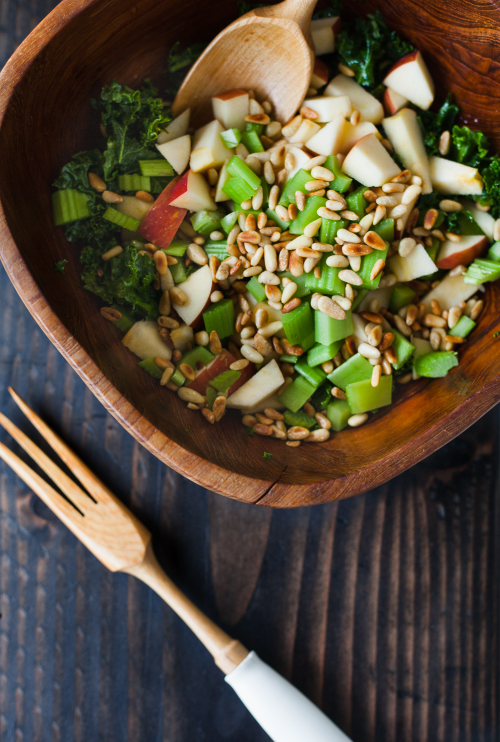 Kale apple and celery salad