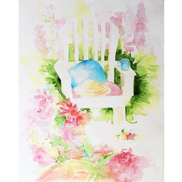#summer #watercolor #jackielynnart