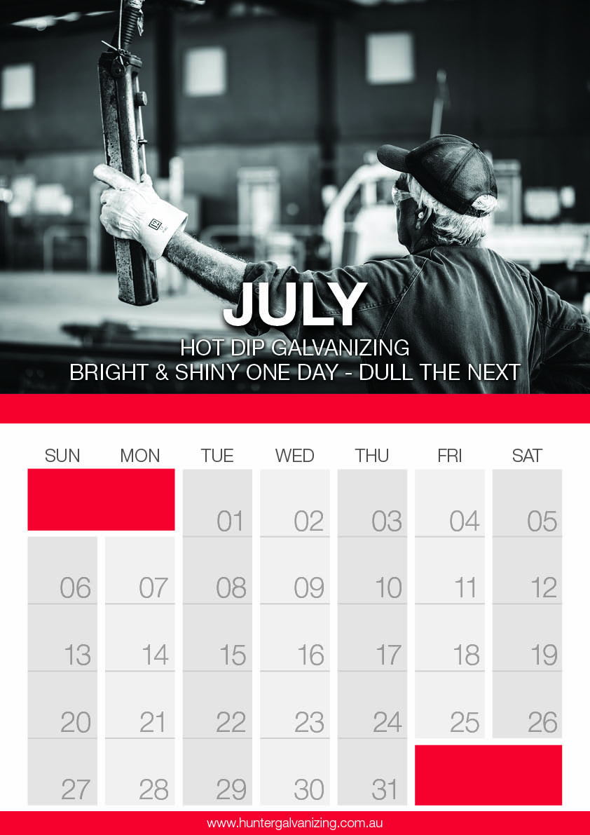Hunter gal Calendar July