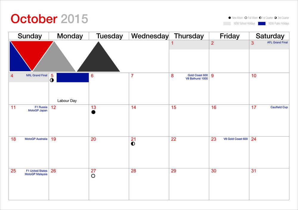 HG October calendar 2015