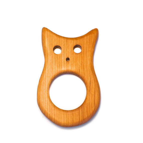 $11.95 - Wooden Owl Teether