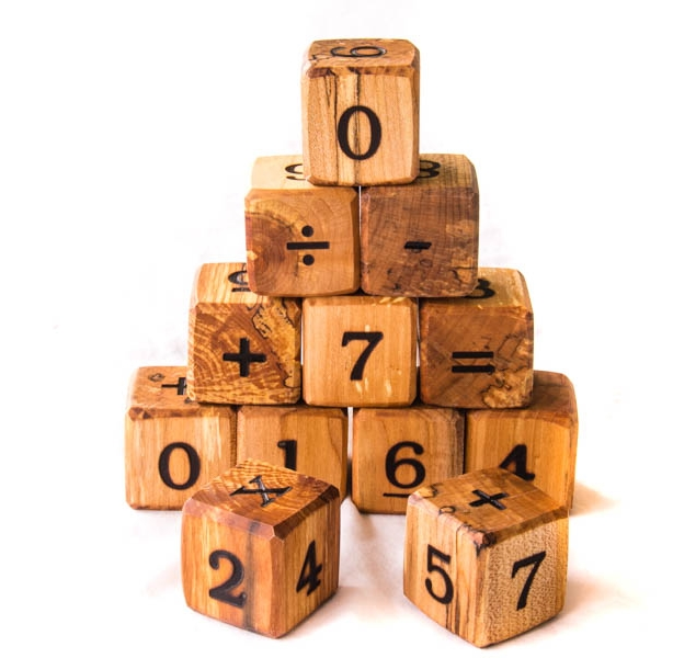 $33.95 - Wooden Counting Number Blocks