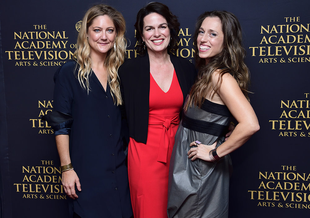 Left to right: Serin Marshall (producer), Amanda Micheli (director), Athena Reich (subject in documentary)