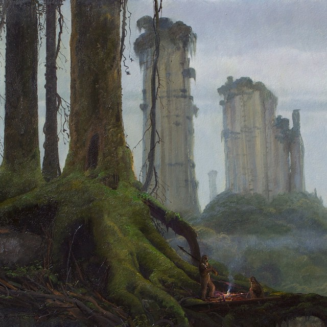 May the Fourth Be With You... Kashyyyk by @mmorgancoleman for George #colemanart #colemanstudios #starwarsvisions #starwars #maythe4thbewithyou