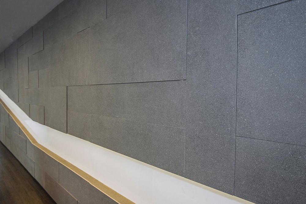 Project 6: Commercial Feature Wall — 3D Stone and Tile