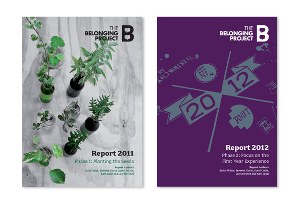RMIT, School of Media & Communication commissioned the design and layout of the their Belonging Project reports.