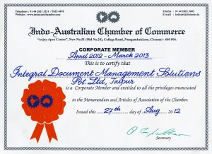 Member of Indo-Australian Chamber of Commerce