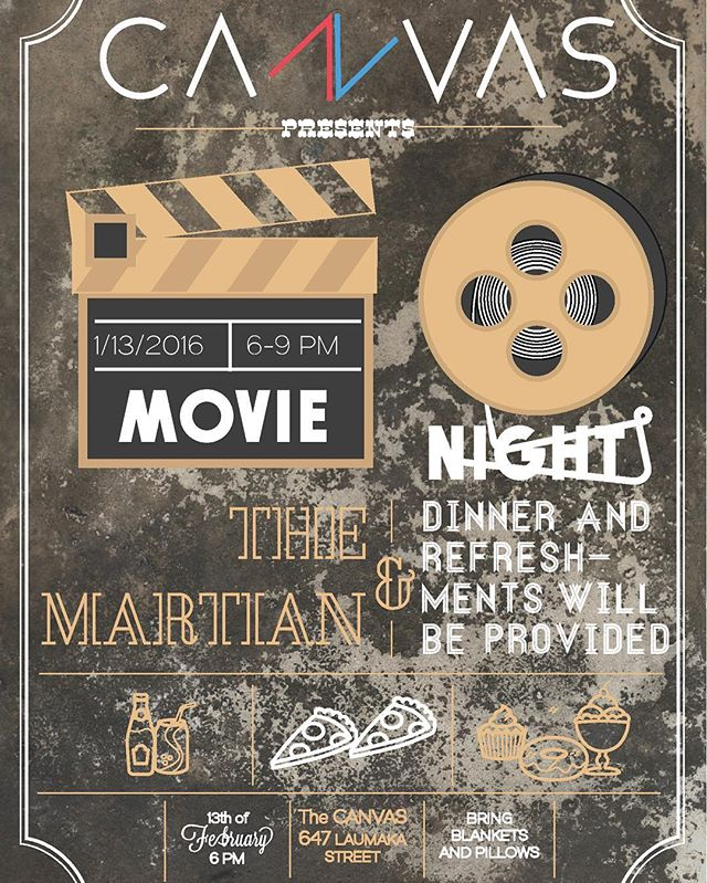 MOVIE NIGHT TONIGHT AT 6! We are watching the Martian and food will be provided, so invite your friends. 😋Also, bring cushions and/or blankets to make it more comfy. :) Hope to see many of you here tonight! 🍿🍿🍿📺📽
