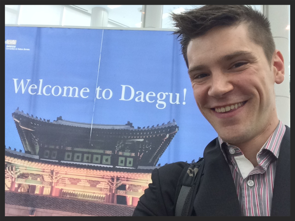 This is me. I like using R for science.  I think you should too. (ISES Solar World Congress, 2015, Daegu, Korea)