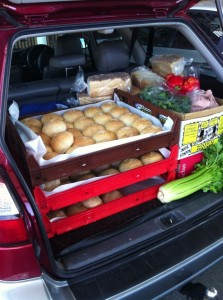 A car load of food for fundraising!