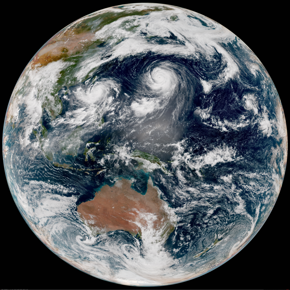 Himawari 8 domain/imagery