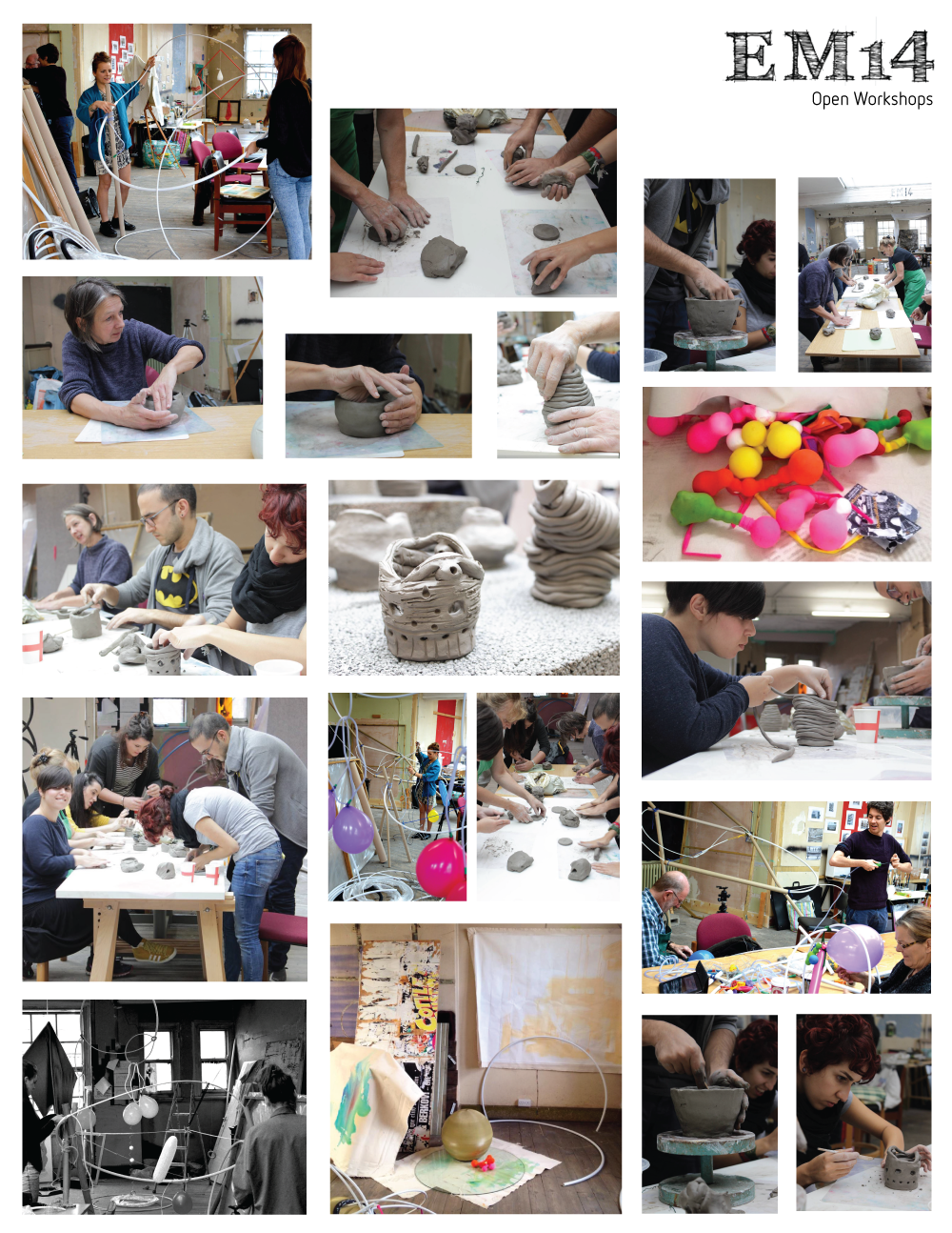 Workshops by Julia Kiely, Sarah Wilson, Ali-Morgan Tansley and Christine Stevens.