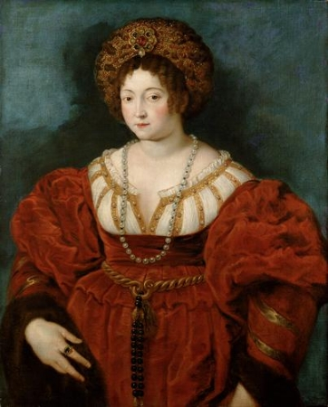 Peter Paul Rubens, Isabella d'Este, 1600-1601, oil on canvas, 101.8 x 81 cm,  Kunsthistorisches Museum.