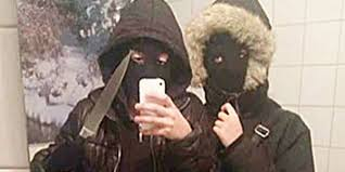 Selfie after robbery attempt from Sweden.