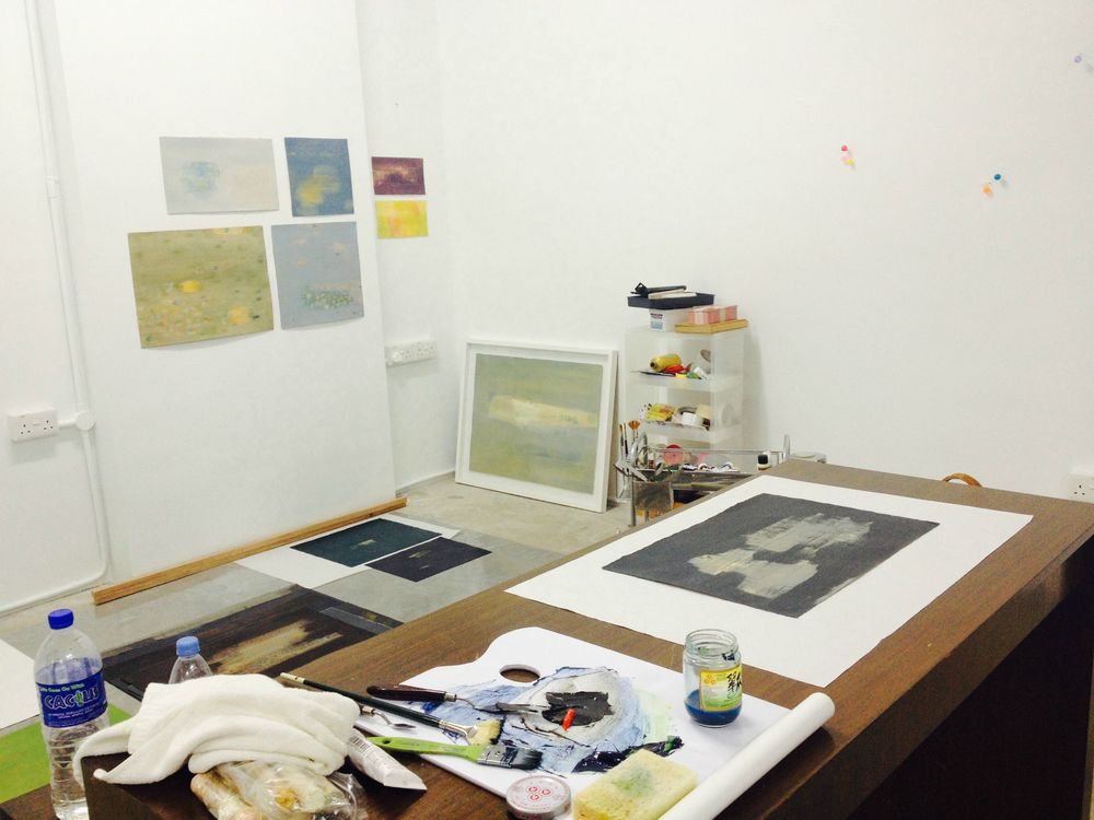 The artist's studio at Ubi Avenue.
