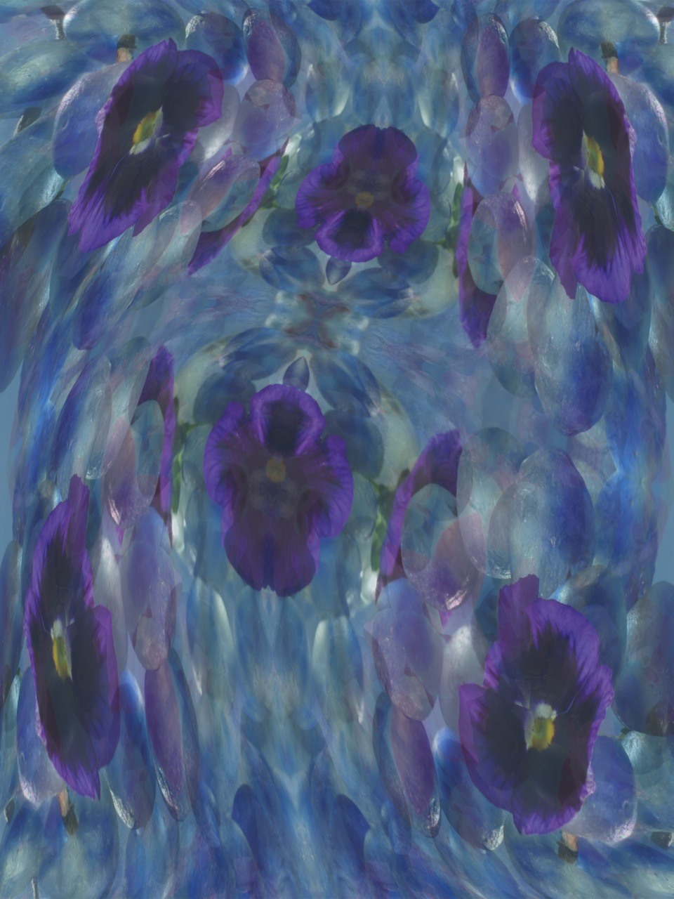MF Flower Flux in purple blue