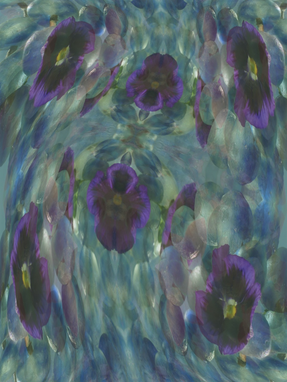 MF Flower Flux in purple green