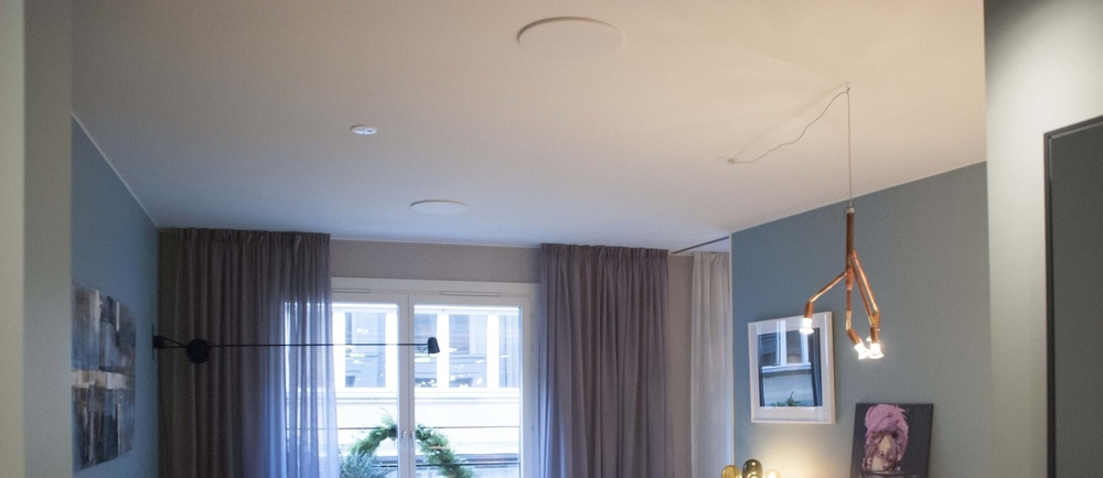 Artcoustic Architect SL Installed In Ceiling in Ture No. 8 by ESNY - Eklund Stockholm New York