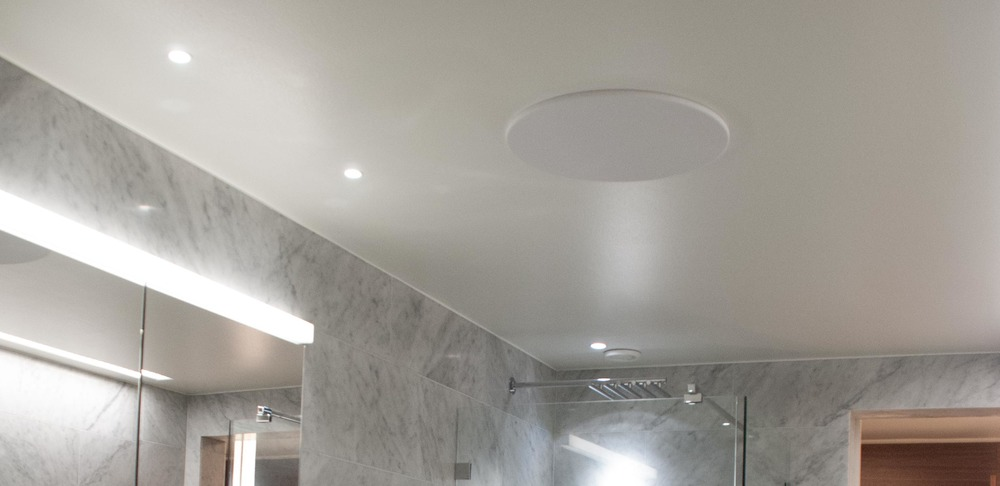 Artcoustic Architect SL Installed in Bathroom Ceiling in Ture No. 8 by ESNY - Eklund Stockholm New York