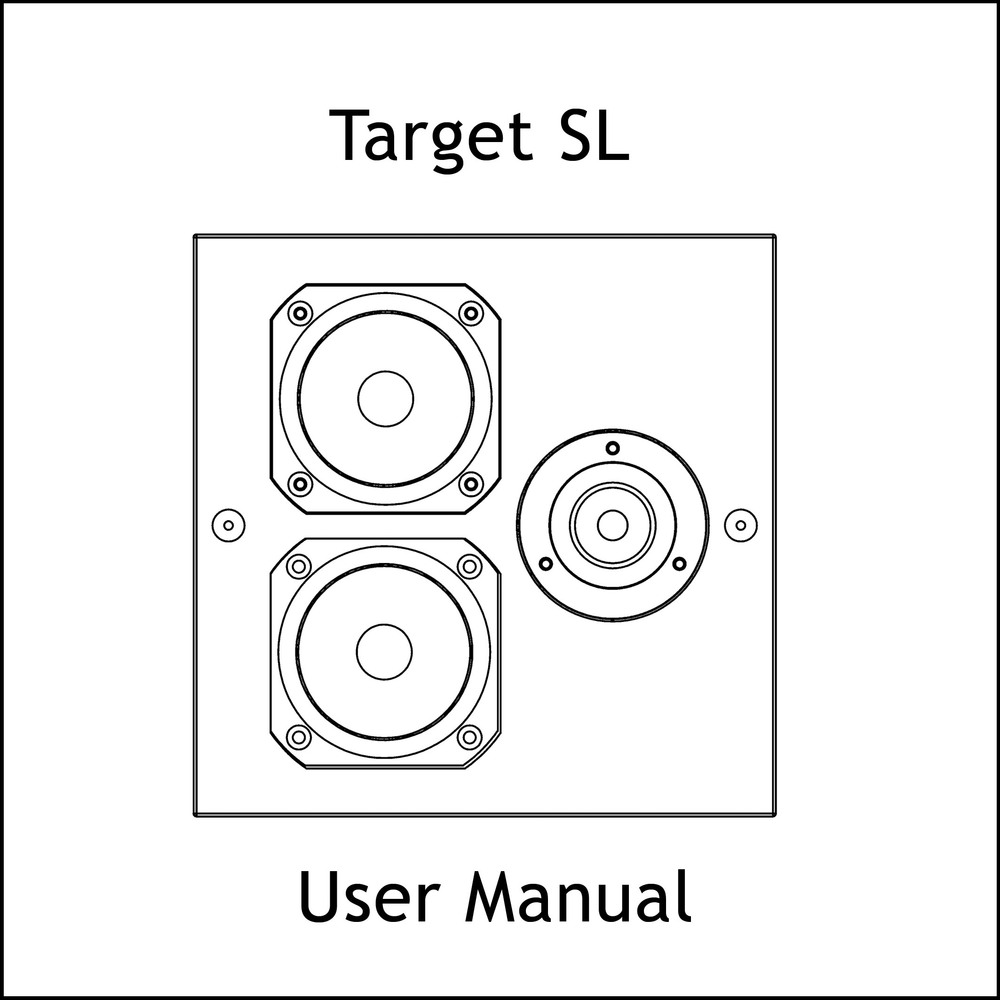 Artcoustic Loudspeakers Target SL Manual