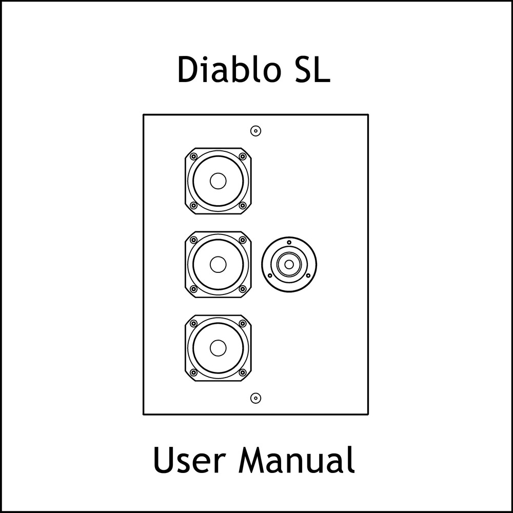 Artcoustic Loudspeakers Diablo SL Manual