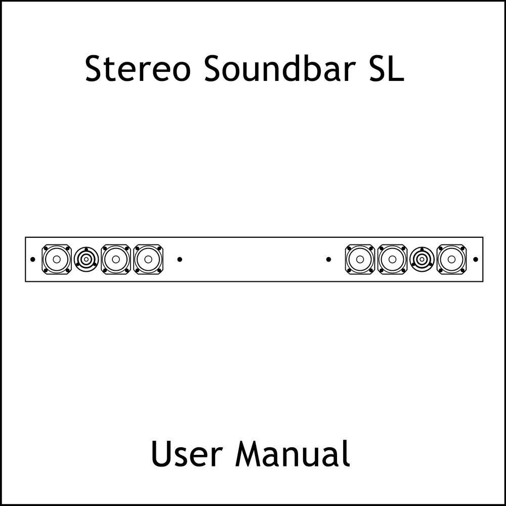 Artcoustic Loudspeakers Stereo SoundBar SL Manual